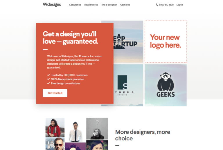 99designs review alternatives