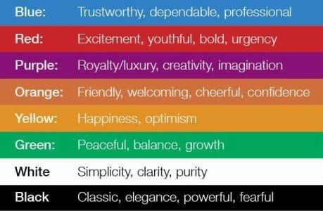 color feelings - write a logo design brief